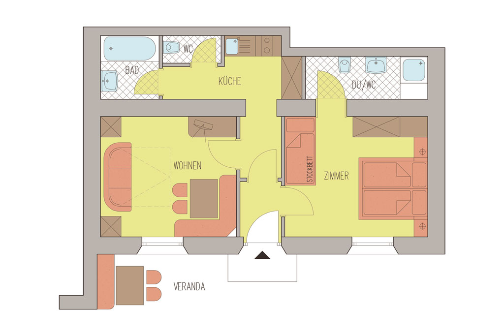Family- & Nature Hotel Darrehof |  Haus Greiter | Layout Nature Apartment Lärche